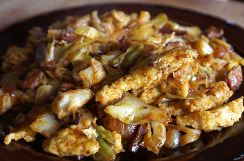 Hungarian cabbage bacon dumpling recipe Káposztás Tészta