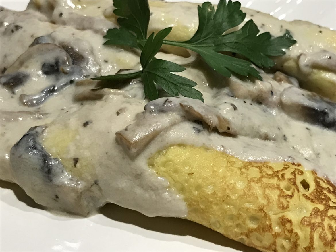 leftovers turkey crêpe mushroom sauce recipe