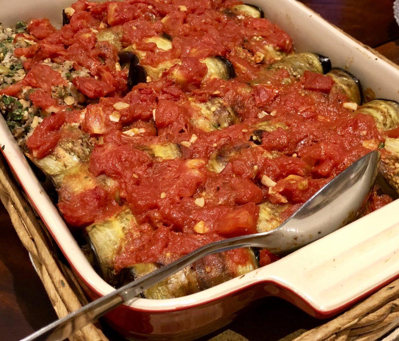 eggplant involtini vegetarian cannelloni