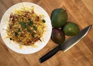 Thai green mango salad refreshingly delicious