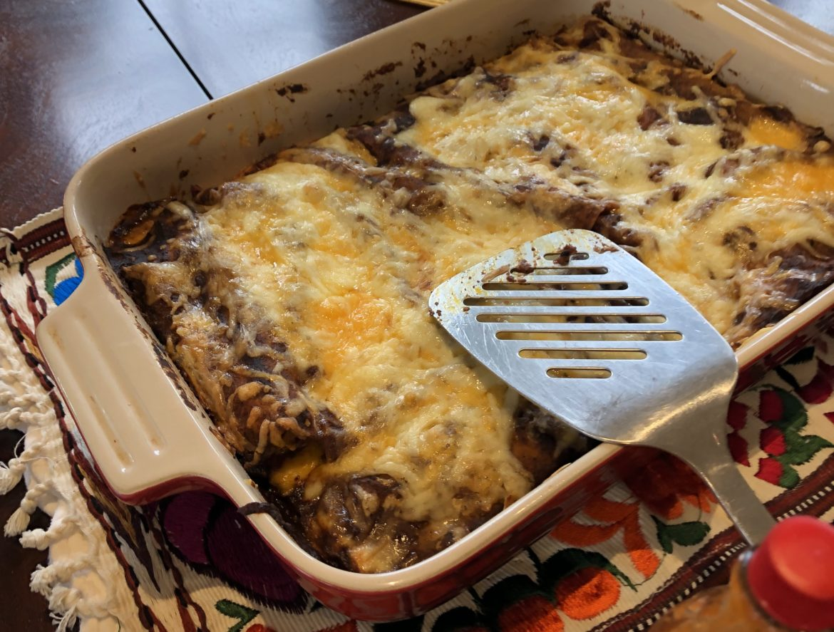 Authentic Mexican enchiladas