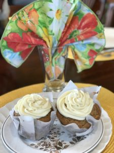 sourdough carrot cake muffin